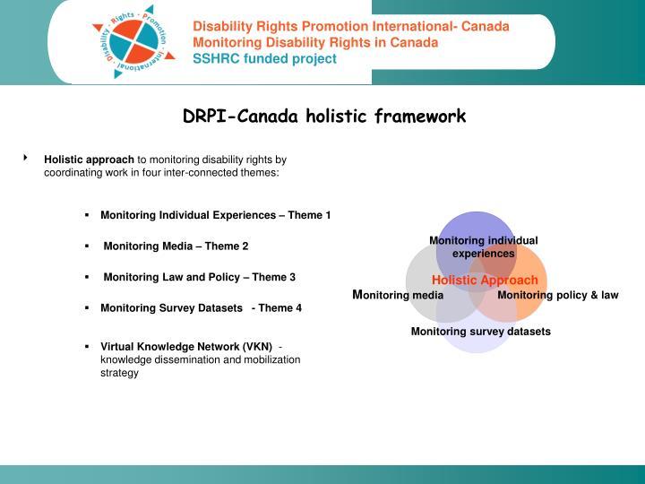 Drpi canada holistic framework