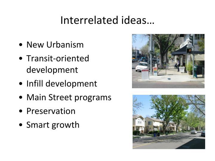 Interrelated ideas…