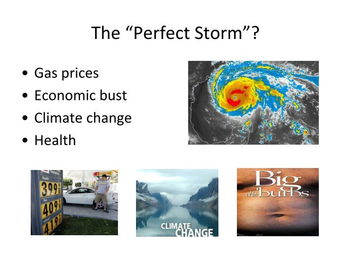 """The """"Perfect Storm""""?"""