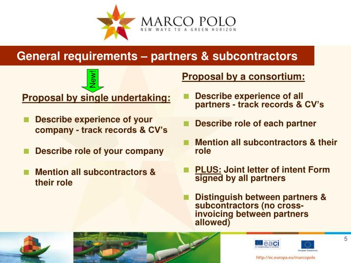 Proposal by single undertaking: