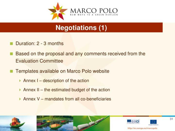 Negotiations (1)