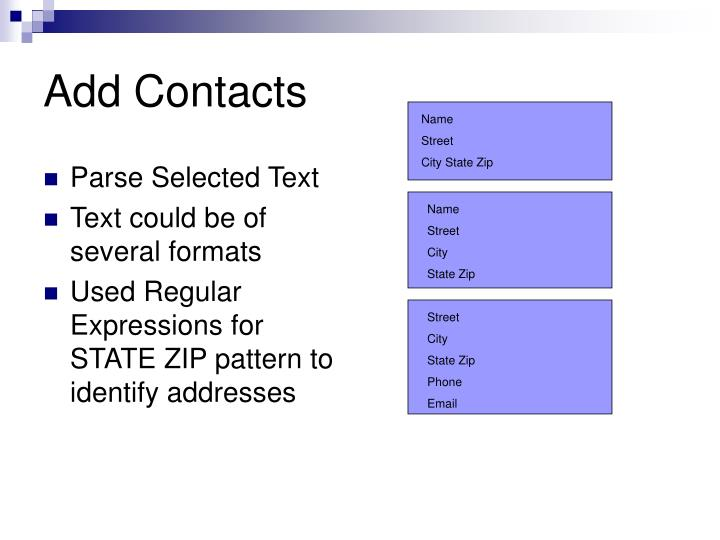 Add Contacts