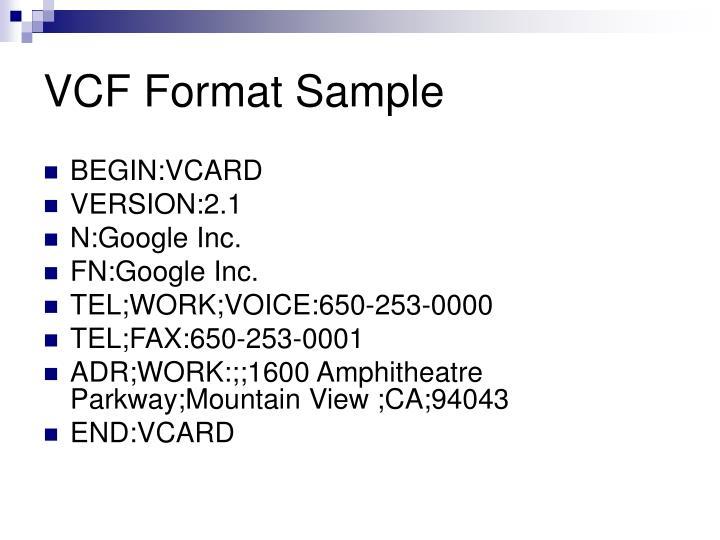 VCF Format Sample