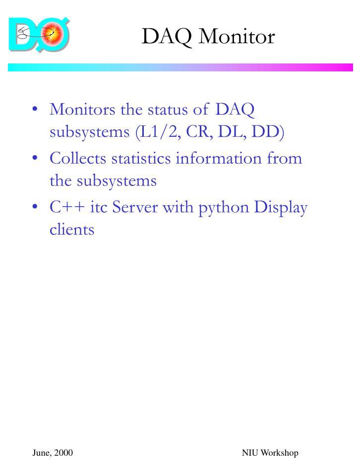 DAQ Monitor