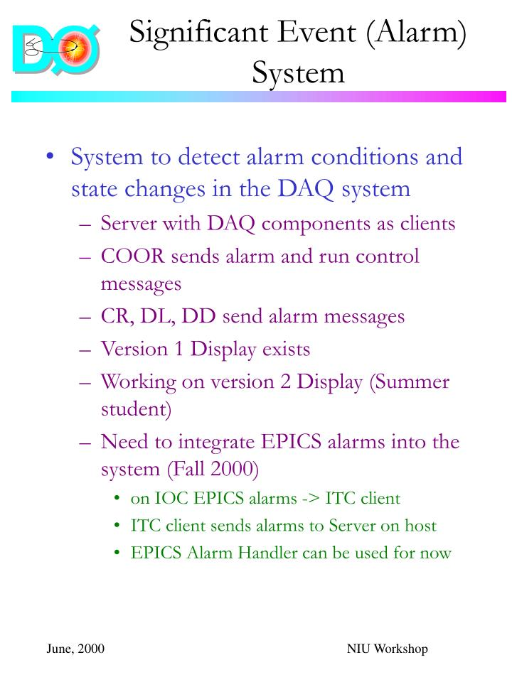 Significant Event (Alarm) System