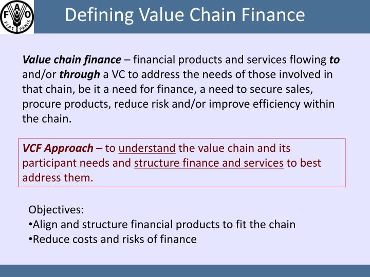 Defining value chain finance