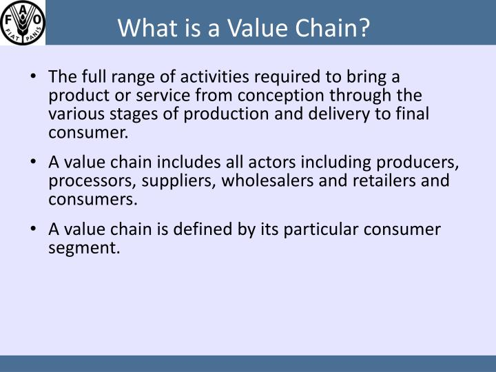 What is a value chain