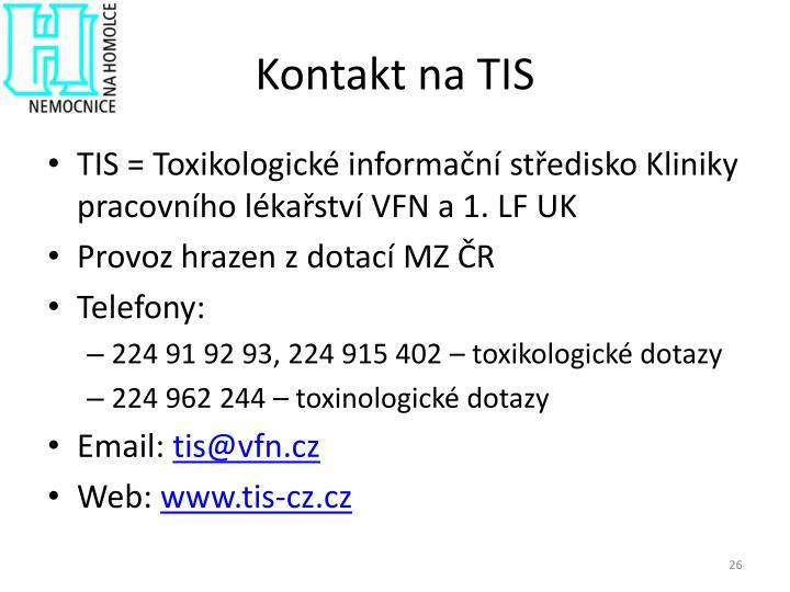 Kontakt na TIS