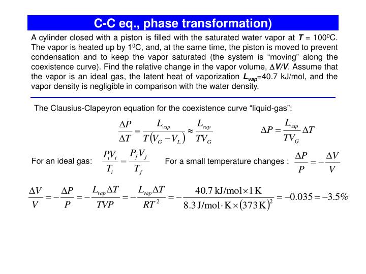 C-C eq., phase transformation)