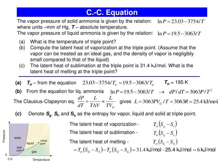 C.-C. Equation
