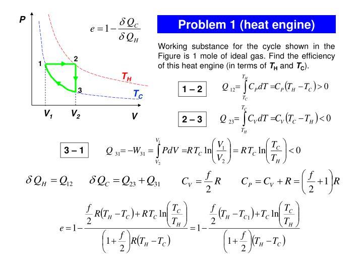 Problem 1 heat engine