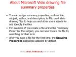 about microsoft visio drawing file summary properties