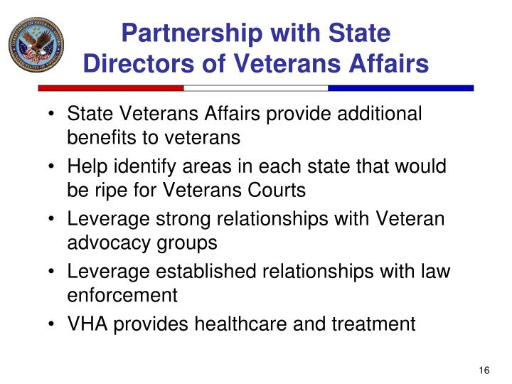 Partnership with State Directors of Veterans Affairs