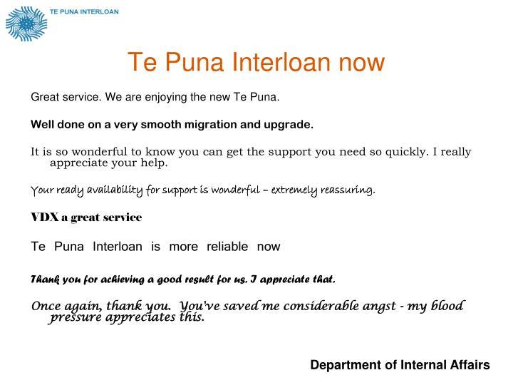 Te Puna Interloan now