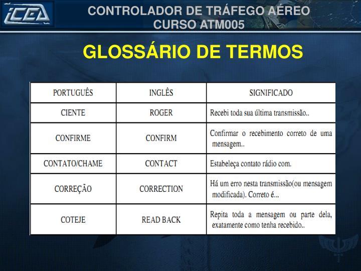 GLOSSÁRIO DE TERMOS
