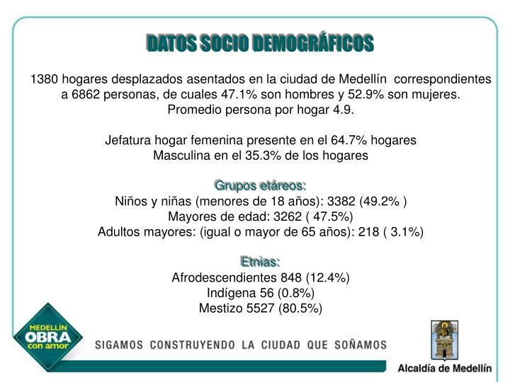 DATOS SOCIO DEMOGRÁFICOS