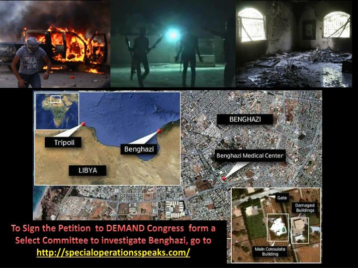 To Sign the Petition  to DEMAND Congress  form a Select Committee to investigate Benghazi