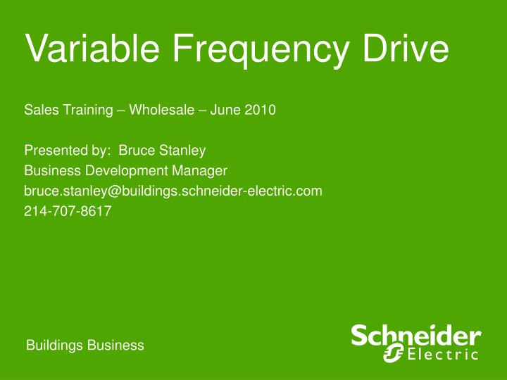 variable frequency drive