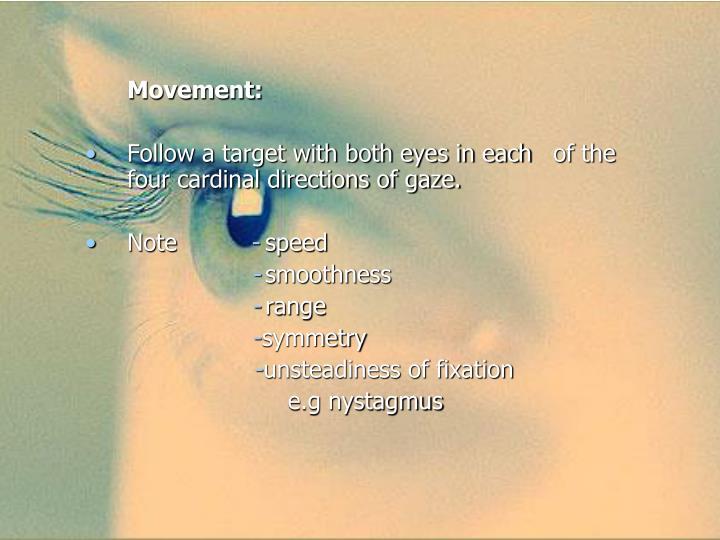 Movement: