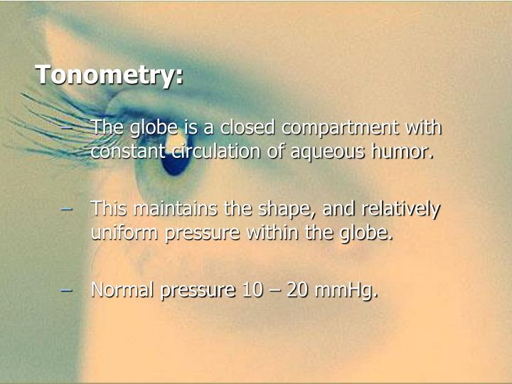 Tonometry: