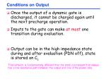 conditions on output