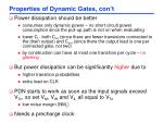 properties of dynamic gates con t