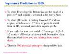 feynman s prediction in 1959