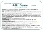 lesson 4 principle wine regions of the world 4 10 france continued champagne region