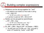 building complex expressions