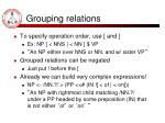 grouping relations