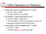 other operators on relations