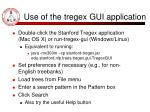 use of the tregex gui application