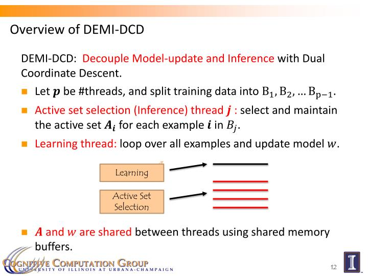 Overview of DEMI-DCD