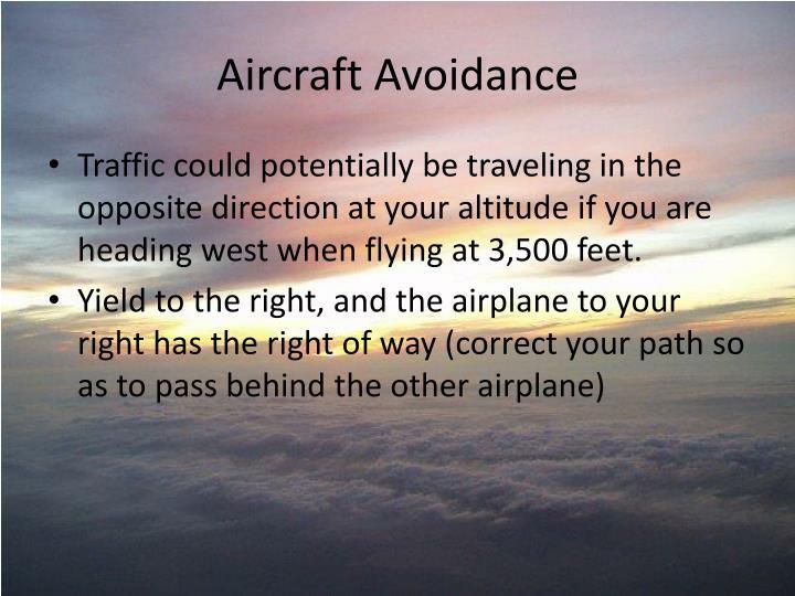 Aircraft Avoidance