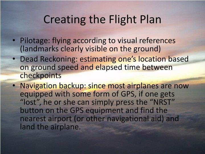 Creating the Flight Plan