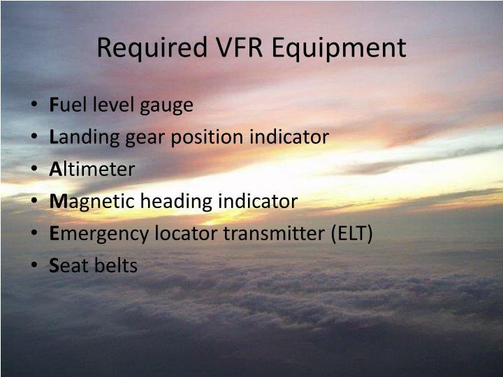Required VFR Equipment