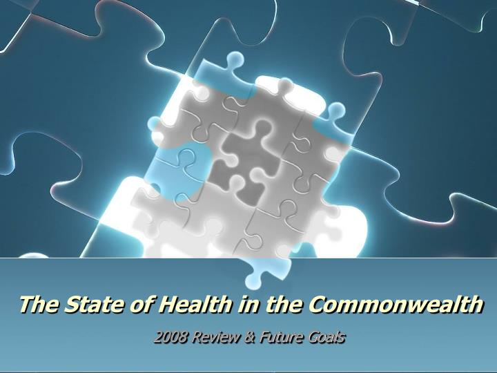 the state of health in the commonwealth