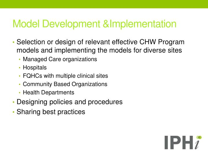 Model Development &Implementation