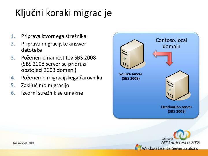 Ključni koraki migracije