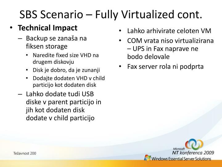 SBS Scenario