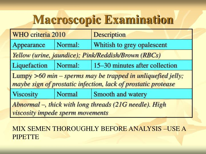 Macroscopic Examination