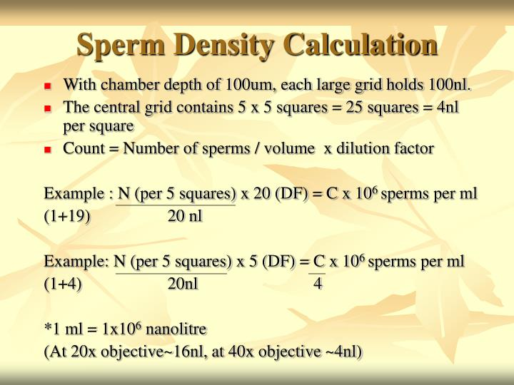 Sperm Density Calculation