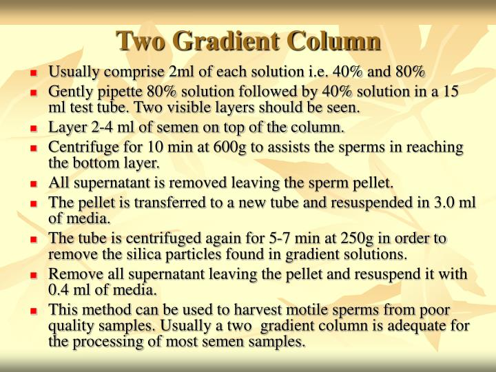 Two Gradient Column