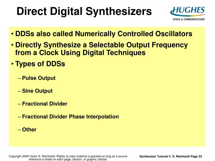 Direct Digital Synthesizers
