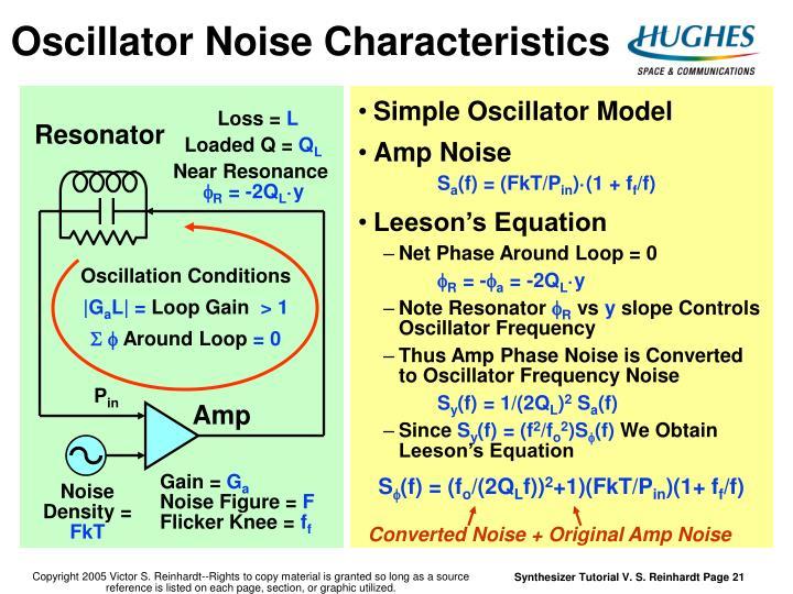 Oscillator Noise Characteristics
