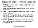expression engine binding scope etc