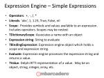 expression engine simple expressions