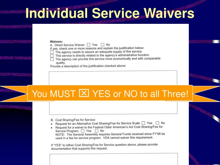 Individual Service Waivers