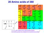 20 amino acids of 280