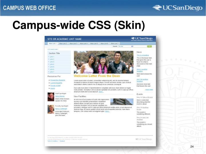 Campus-wide CSS (Skin)